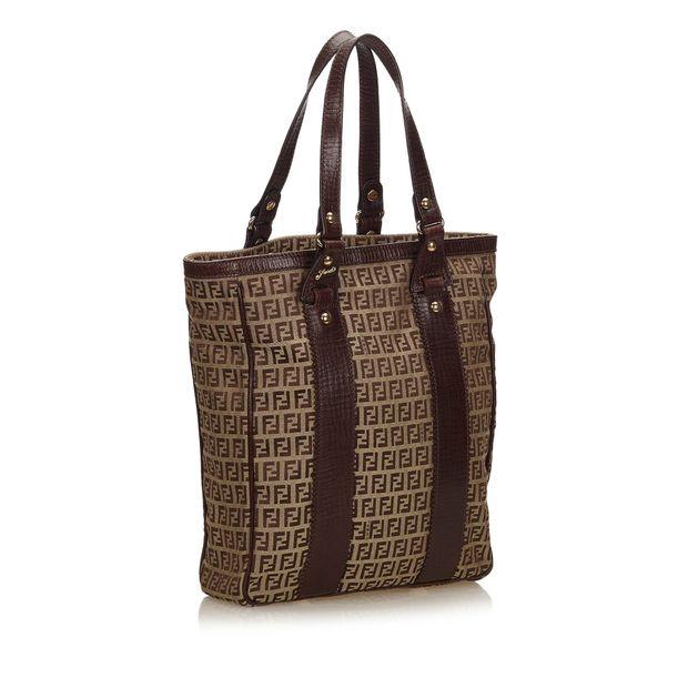 a743ac52352db FENDI Zucchino Jacquard Tote Bag 1 thumbnail