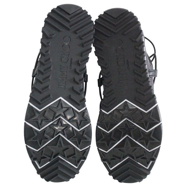 0ba1bb72aba JIMMY CHOO Black and Silver Sneakers 4 thumbnail