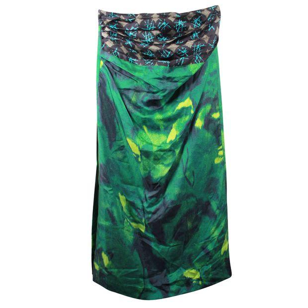 14c7715c70 Silk Printed Skirt by DRIES VAN NOTEN | StyleTribute.com