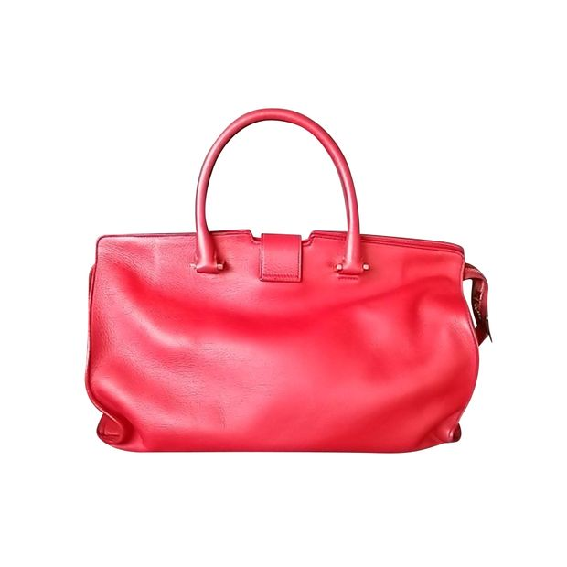 aa98fce320 YVES SAINT LAURENT Classic Cabas Y Tote In Red 1 thumbnail