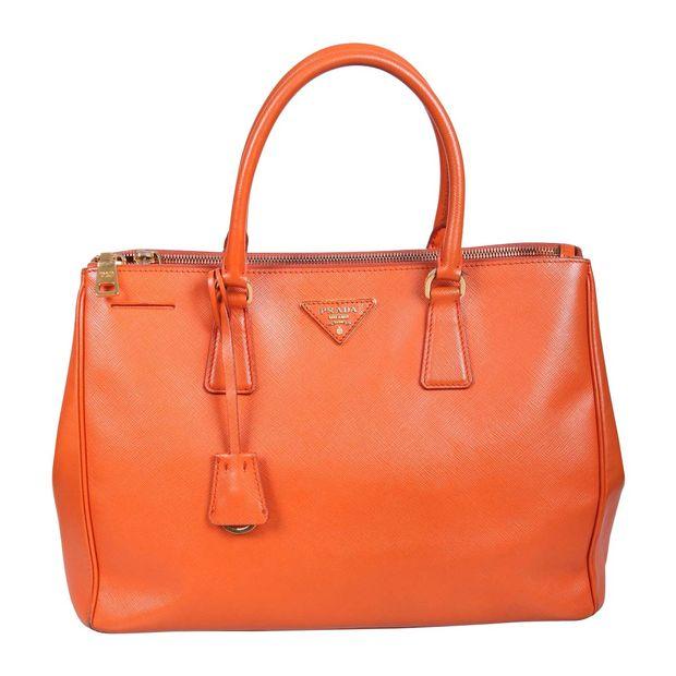 e745530a98ee Saffiano Lux Double Zip Tote Bag by PRADA