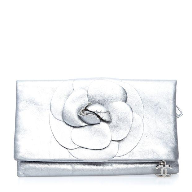 2c47c749f37fe3 Camellia Fold Clutch by CHANEL   StyleTribute.com