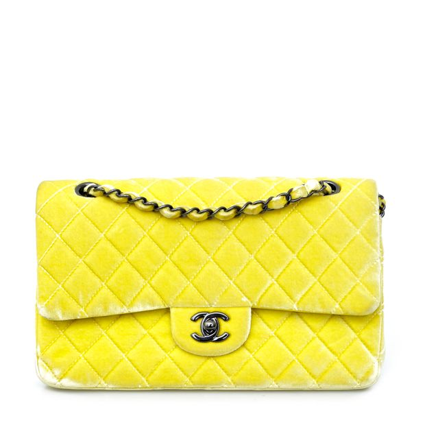 bddbd667afa8 Velvet Medium 2.55 Flap Bag by CHANEL | StyleTribute.com