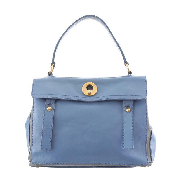 435f49f8c5a Muse II Leather Handbag by YVES SAINT LAURENT | StyleTribute.com