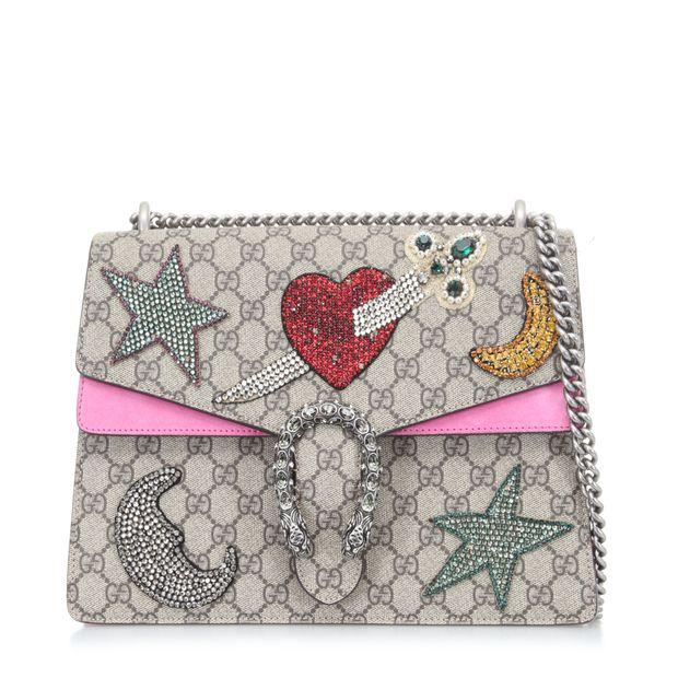 82989fdd2573 Dionysus Embellished Heart Shoulder Bag by GUCCI | StyleTribute.com