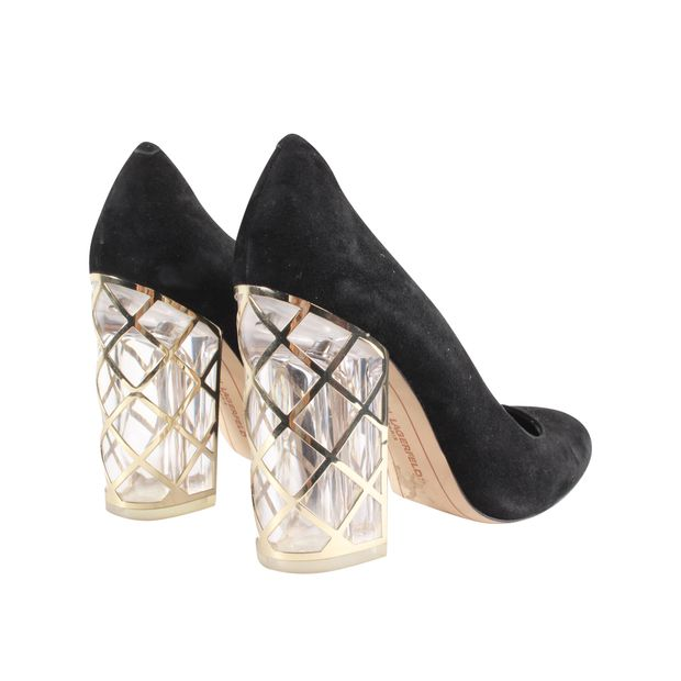 14615d89f2e Black Pumps With Plexi Heels by KARL LAGERFELD