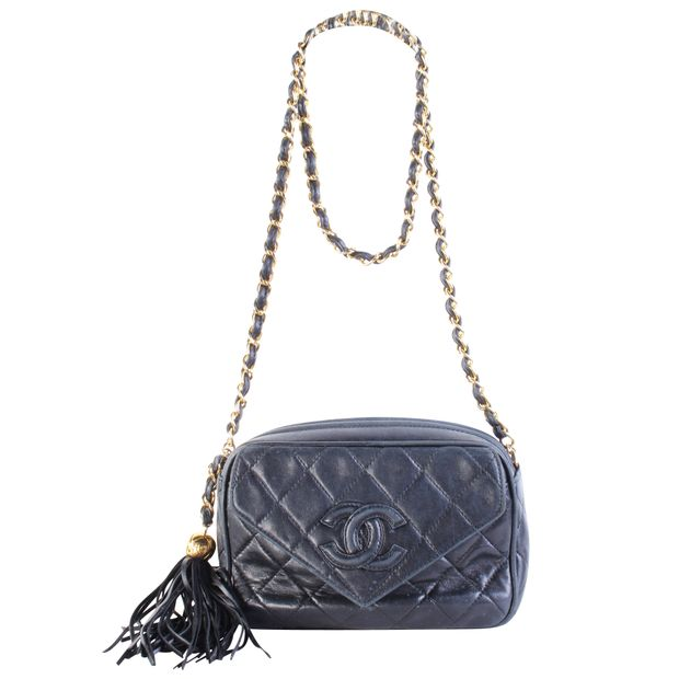 af300410b973 Black Vintage Bag With Gold Chain Strap by CHANEL