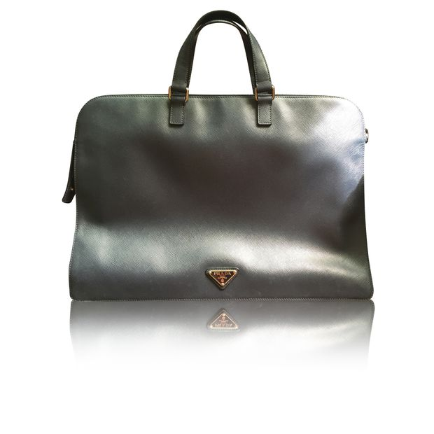 3b45e6726587 Saffiano Travel Vr0023 Laptop Bag by PRADA | StyleTribute.com