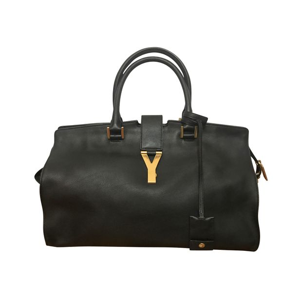 Classic Cabas Chyc Bag in Black by YVES SAINT LAURENT  8c991a1b1a40b