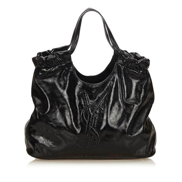 Patent Leather Belle de Jour Tote by YVES SAINT LAURENT ... 321af5b03ab11