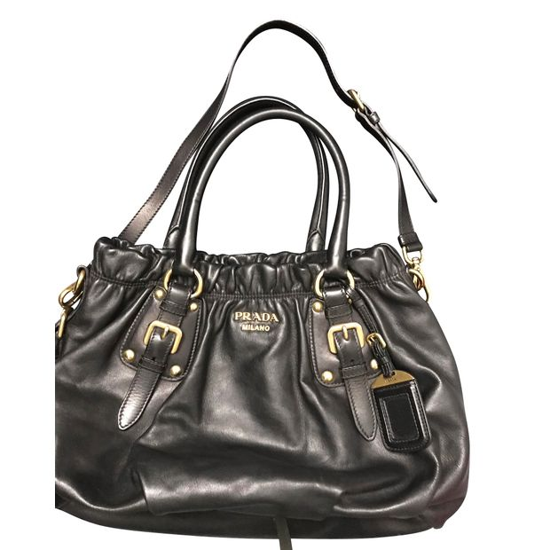 6bbcc30cdaf5 Prada Black Leather Bag by PRADA | StyleTribute.com