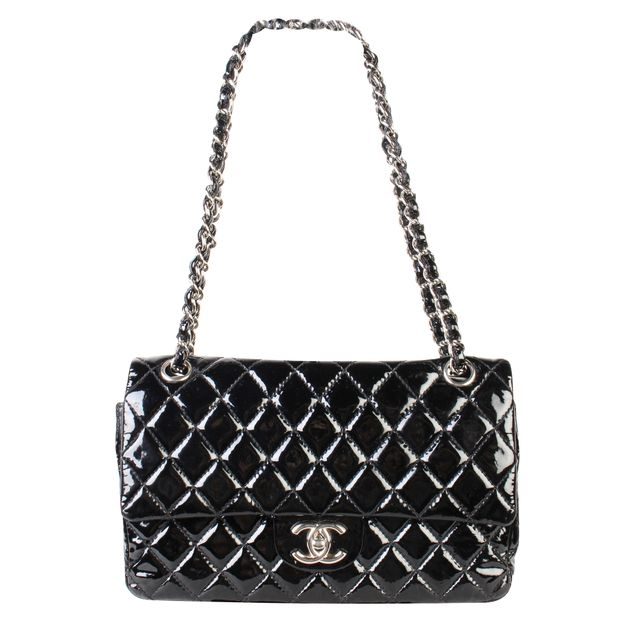 8e9305aaee47 Medium Patent Classic Flap by CHANEL | StyleTribute.com