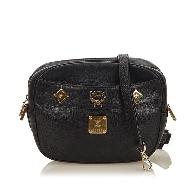 902905ea9 Leather Crossbody Bag by MCM | StyleTribute.com