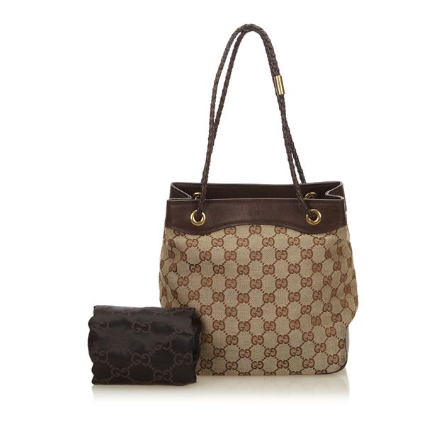 30696bf15a2cb2 Guccissima Jacquard Tote Bag by GUCCI | StyleTribute.com