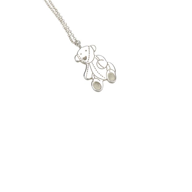 5778450cd Silver Bear Necklace by GUCCI   StyleTribute.com
