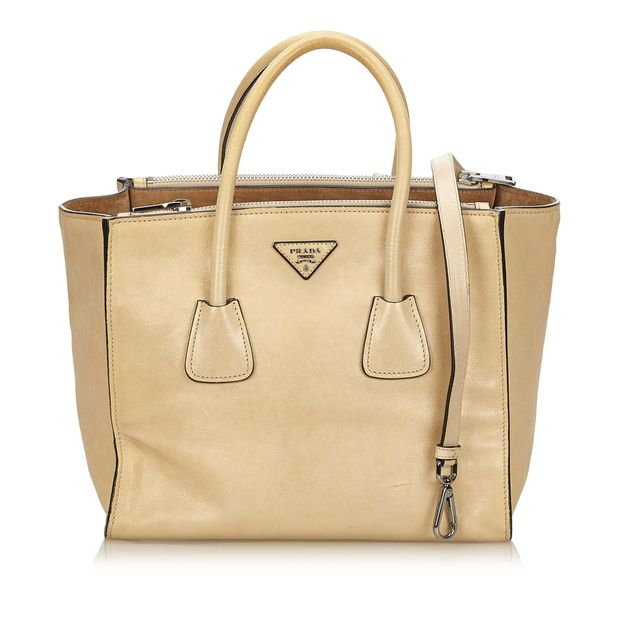 845af3d82d3f Calf Leather Twin Pocket Tote by PRADA | StyleTribute.com