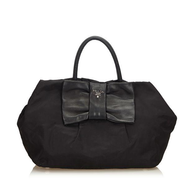2d2ddbc19bb9 Nylon Bow Tote Bag by PRADA