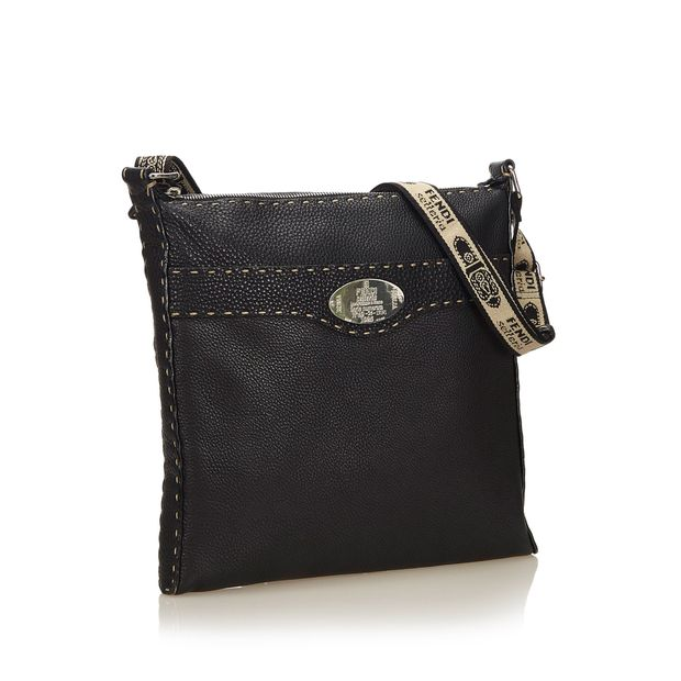 3cd87c077a23 FENDI Leather Selleria Crossbody Bag 1 thumbnail