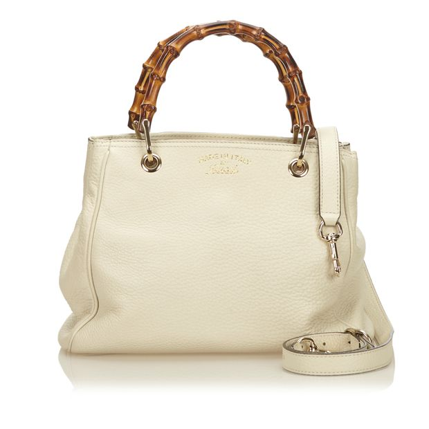 d05eb7c78439 Mini Bamboo Leather Shopper by GUCCI | StyleTribute.com