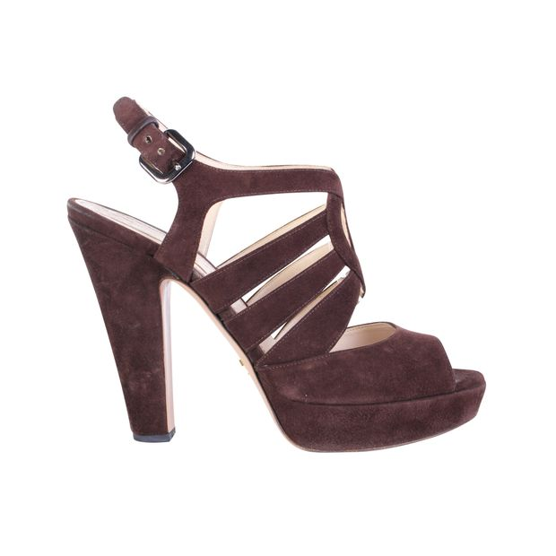 4b221d61d Suede Ankle Strap Sandals by PRADA