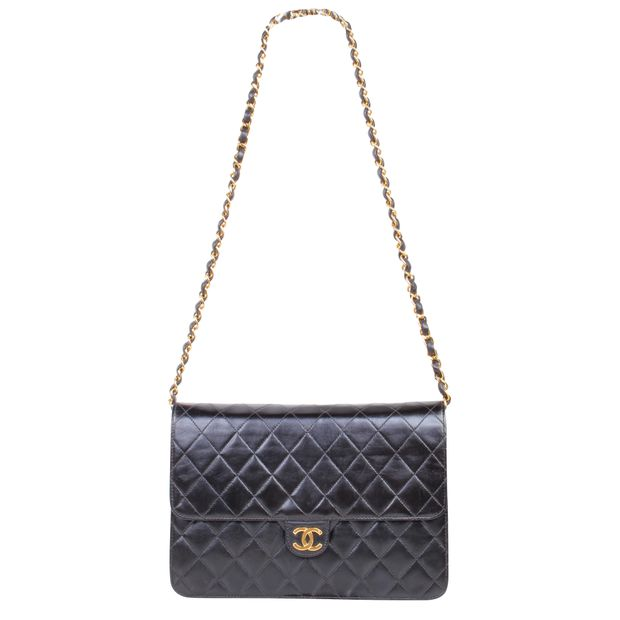 a0a60a7f58d3 Vintage Lambskin 24K Gold Hardware Bag by CHANEL | StyleTribute.com