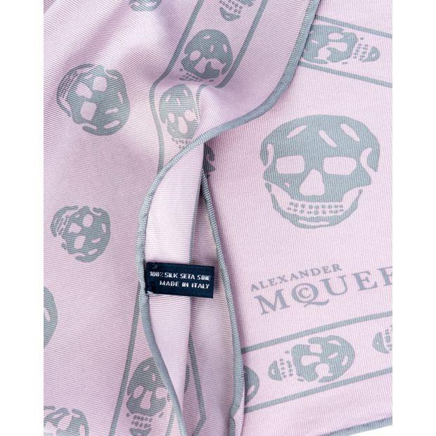 bfe9bcf8778da Skull Print Silk Scarf by ALEXANDER MCQUEEN | StyleTribute.com
