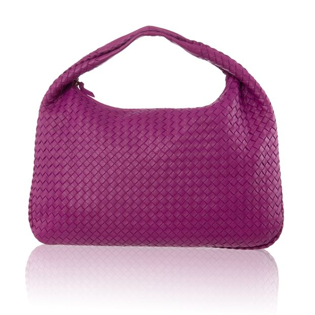 649dfb5e36 BOTTEGA VENETA Pink Intrecciato Woven Nappa Leather Large Veneta Hobo Bag 0  thumbnail