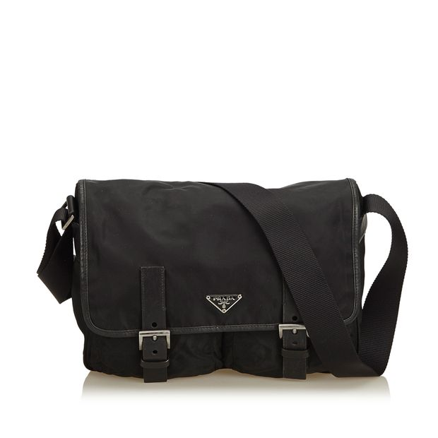 5ab3878fe3ccea Tessuto Nylon Messenger Bag by PRADA | StyleTribute.com
