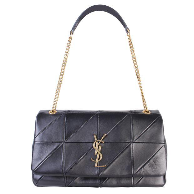 9cd5340107e Jamie Medium Lambskin Black Shoulder Bag by YVES SAINT LAURENT ...