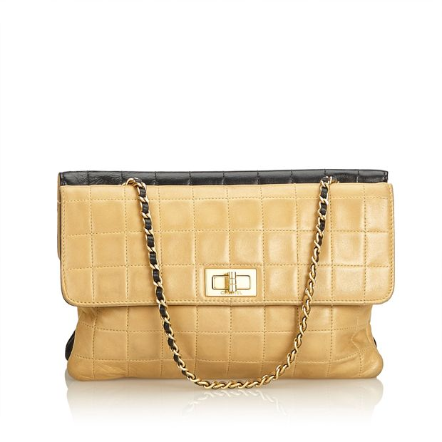 9f2ca042588cd3 Double Sided Chocolate Bar Lambskin Flap by CHANEL | StyleTribute.com