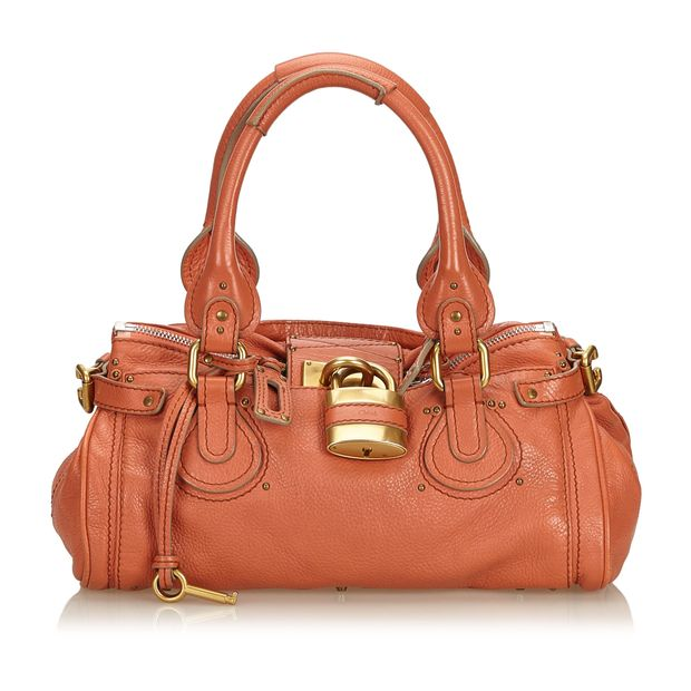 702cadb4580 Leather Paddington Handbag by CHLOÉ | StyleTribute.com