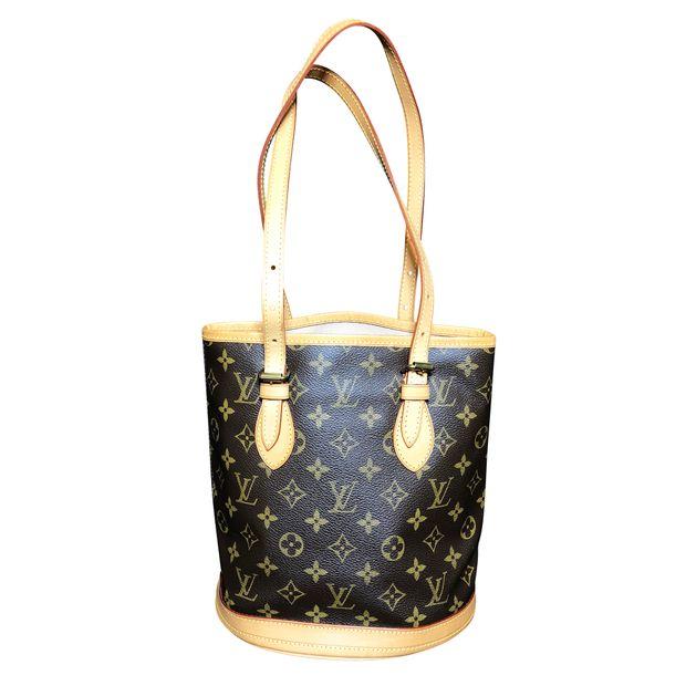 1cf456ce4709 LOUIS VUITTON Monogram Canvas Petit Bucket Bag with Accessory Pouch ...