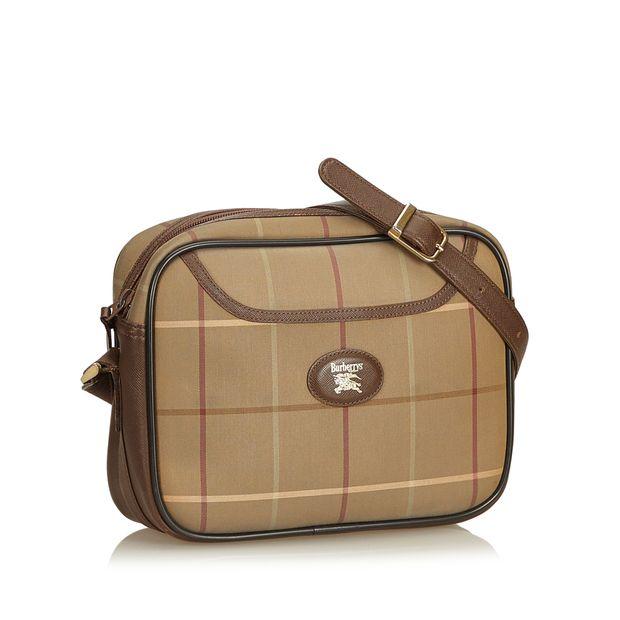 3b5c2ef06b56 BURBERRY Plaid Jacquard Crossbody Bag 1 thumbnail