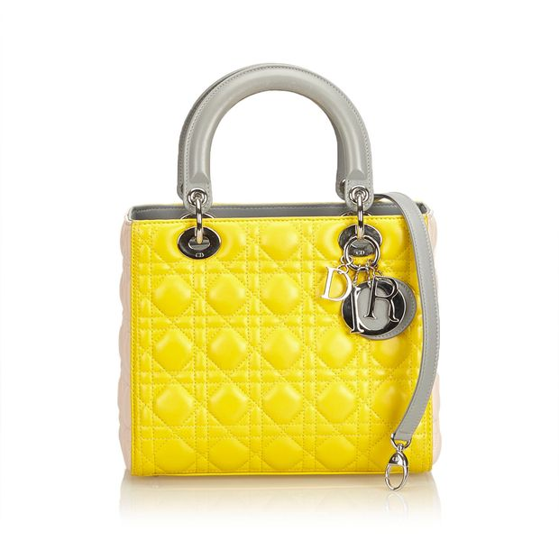 2827ef0f5f Medium Cannage Tri-Color Lady Dior by DIOR | StyleTribute.com