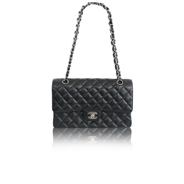 9da8fe5fc Classic 2.55 Caviar Medium Flap Bag by CHANEL | StyleTribute.com