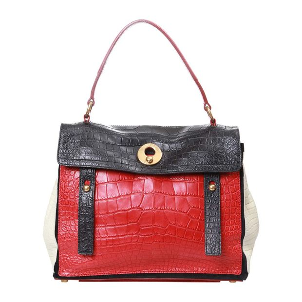b2cf39fed14 Muse Two Limited Edition Crocodile Skin Bag by YVES SAINT LAURENT ...