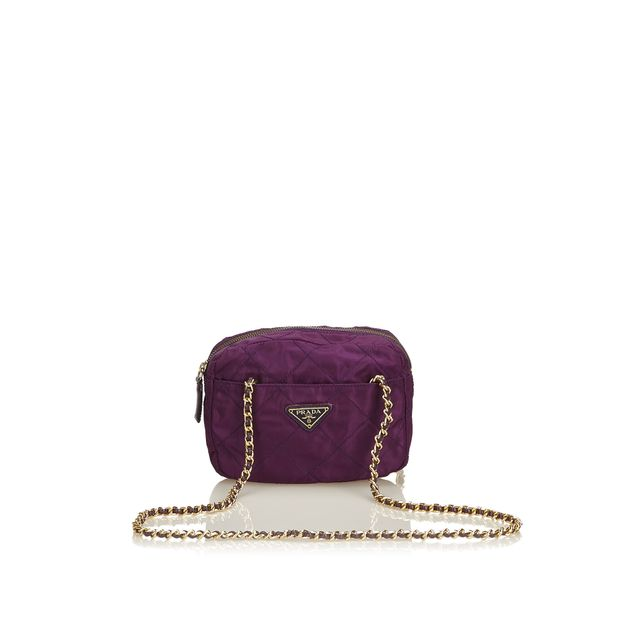 462efee63d Quilted Nylon Shoulder Bag by PRADA | StyleTribute.com