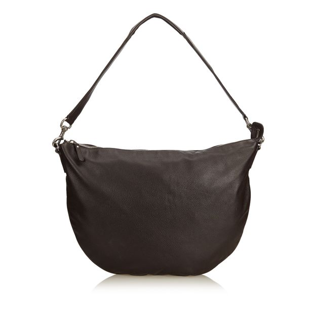 e4779eac649a Leather Half Moon Hobo Bag by GUCCI | StyleTribute.com