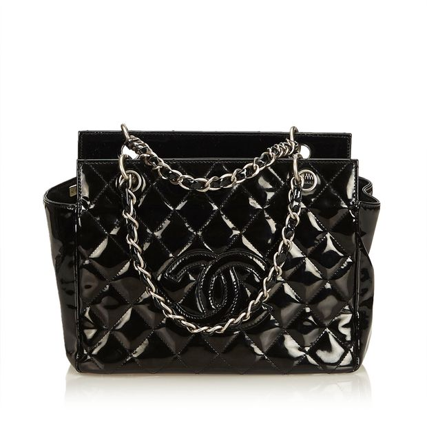 c5de26e1176f Patent Leather Petite Timeless Tote by CHANEL   StyleTribute.com