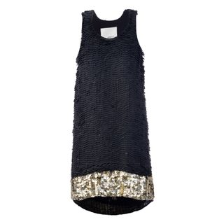 Black Cotton Dress With Ruffles by 3 1 PHILLIP LIM