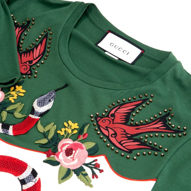 a11f0df0 2016 Embroidered T-Shirt by GUCCI | StyleTribute.com