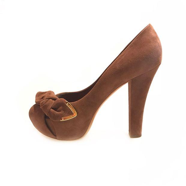 e9c43a4a488b Brown Louis Vuitton High Heel by LOUIS VUITTON