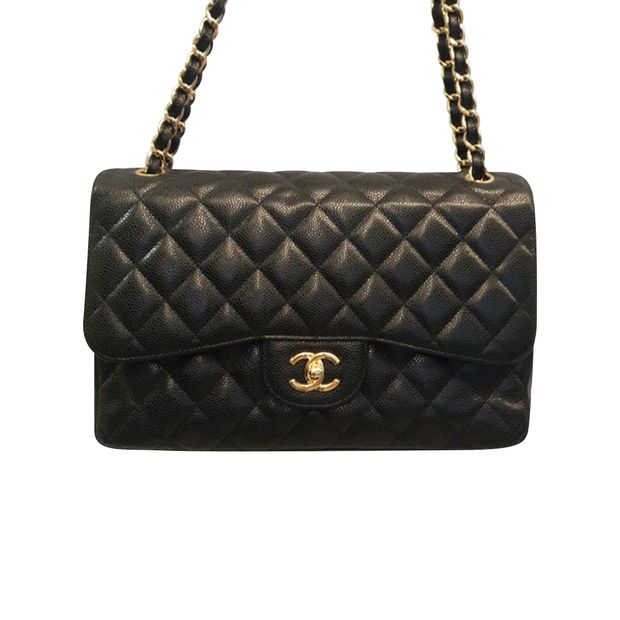 b12ee069a945 Caviar Jumbo Double Flap by CHANEL | StyleTribute.com