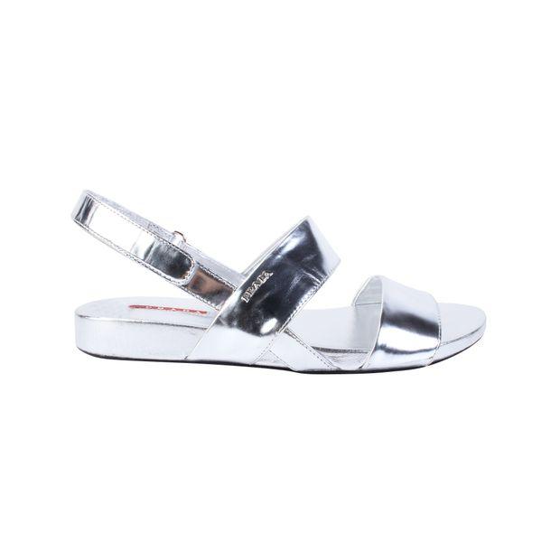 2557e51a3714 Metallic Sandals by PRADA