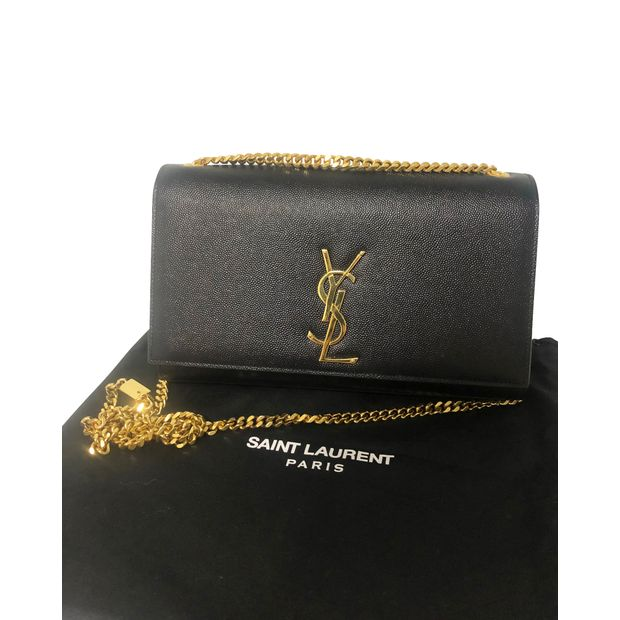 d8e00ad9187 Kate Medium Black and Gold With Chain by YVES SAINT LAURENT ...