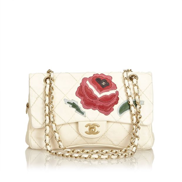 9a9d337d1d27 Wild Stitch Lambskin Flap with Rose Applique by CHANEL ...