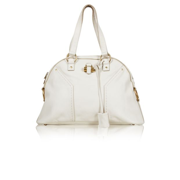 b48a7a8948 Muse White Shoulder Bag by YVES SAINT LAURENT