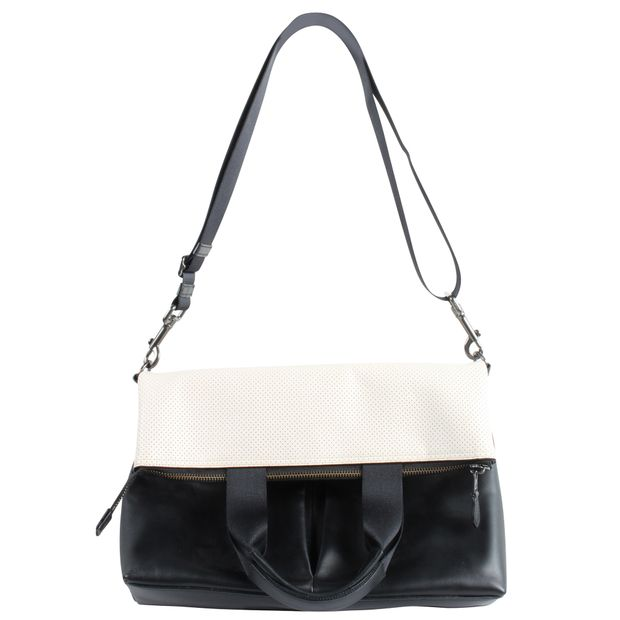 d64989c96d Black and White Messenger Tote Bag/ Cross Bag by COACH ...