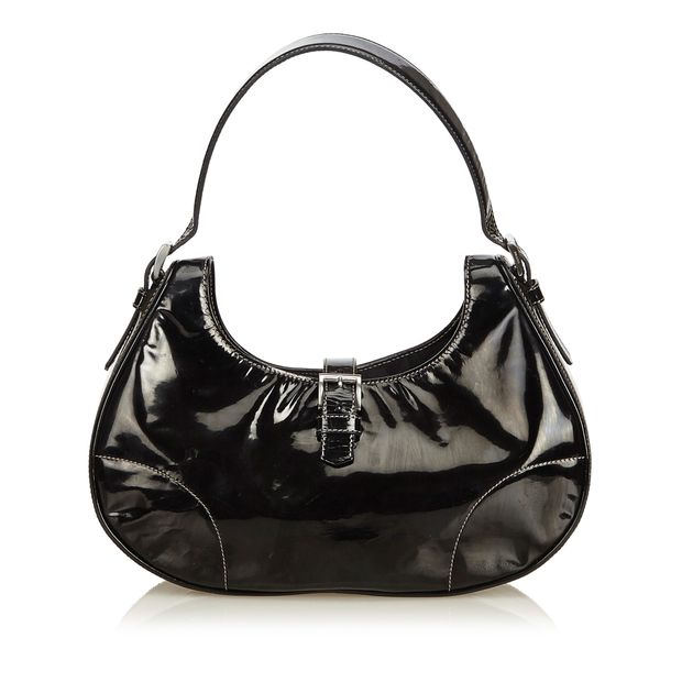 Patent Leather Hobo Bag by PRADA  26009144967b5