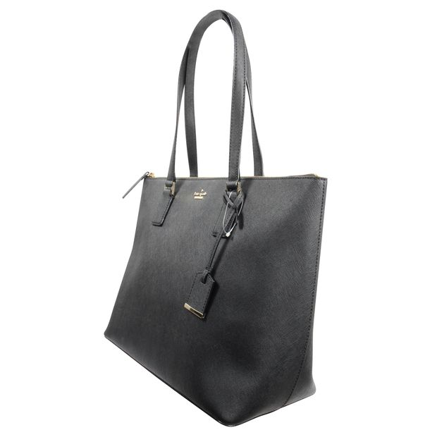 c1a6d46b12ef17 KATE SPADE Cameron Street Medium Harmony Black Leather Tote 2 thumbnail